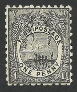 Fiji, 1 P. 1893, Sc # 54, Mi # 28, MH. - Fiji (...-1970)