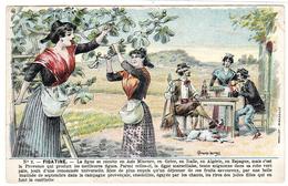 Carte PUB - LA FIGATINE - Soc. Torréfaction De FIGUES De PROVENCE -n°2 - C. LAUTREC -AGRICULTURE- Ed. Moullot, Marseille - Advertising