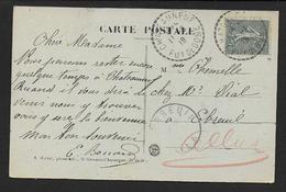 Puy De Dome - Cachet Pointillé  CHATEAUNEUF - Marcophilie (Lettres)