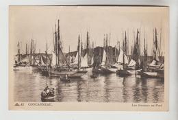 CPSM CONCARNEAU (Finistère) - Les Thoniers Au Port - Concarneau