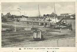 35saint Malo     La Gare Maritime Vue Sur Le Casino Vapeur A Quai Animée - Saint Malo