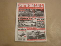 RETROMANIA N° 28 Lancia Fulvia BD Panhard Mini Countryman Morris Alpine Renault Voiture Auto Automobile - Auto/Moto