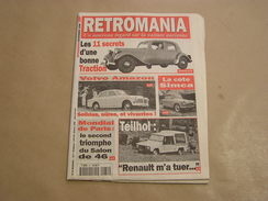 RETROMANIA N° 31 Citroën Traction Avant Volvo Amazon Renault Teilhol Constructeur Voiture Auto Automobile - Auto/Motor