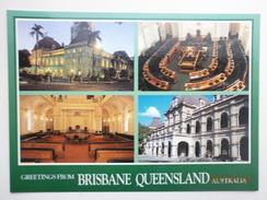 Postcard Greetings From Brisbane Queensland Australia Multiview Parliament House My Ref B2220 - Brisbane