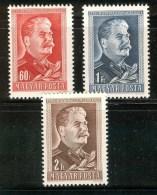 HUNGARY 1949 HISTORY Famous People STALIN - Fine Set MNH - Nuovi