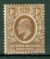 East Africa & Uganda Protectorates: 1907/08   Edward    SG34   1c    MH - Kenya, Uganda & Tanganyika