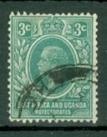 East Africa & Uganda Protectorates: 1921   KGV     SG66a   3c   Blue-green   Used - Kenya, Uganda & Tanganyika