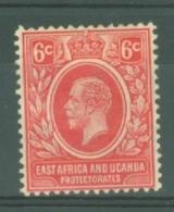 East Africa & Uganda Protectorates: 1921   KGV     SG67   6c      MH - Kenya, Uganda & Tanganyika