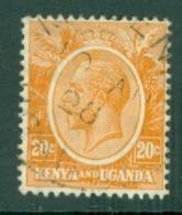 Kenya & Uganda: 1922/27   KGV    SG83    20c   Dull Orange-yellow  Used - Kenya, Uganda & Tanganyika