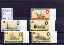 Falkland Islands - Wracks / Ships 1982 (**/mnh) - Falkland
