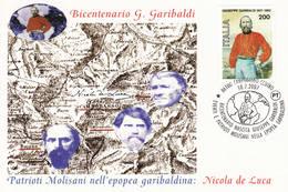 2007 CAMPOBASSO BICENTENARIO NASCITA GIUSEPPE GARIBALDI - Célébrités