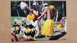 TAHITI COUPLE DANSANT L'OTEA - Carte Postale Neuve Années 70 - Très Bon état - Dos Partagé - Polynésie Française