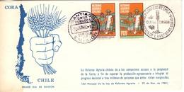 CHILE SANTIAGO AGRICULTURAL REFORM   1968 FDC  (GEN170166) - Agricoltura