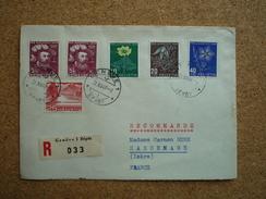 Enveloppe Recommandée Affranchie Suisse Pro Juventute 1949 Pour Sassenage Oblitération Genève Dépôt - Pro Juventute