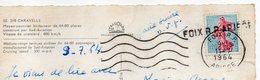 1964--griffe Linéaire FOIX RP ARIEGE Sur Carte Postale Caravelle Air France Réexpédiée Sur Melun-77 - Marcophilie (Lettres)