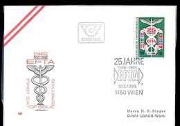 AUSTRIA / AUTRICHE 1985 * 25th ANNIVERSARY EFTA - FDC