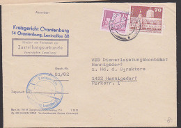 Oranienburg Kreisgericht DDR Zustellungsurkunde Bauten Großes Und Kleines Format, Leipzig Alte Rathaus - DDR