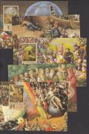 Thomas Müntzer Ehrung In Der DDR 1989, Kpl. Kartensatz Mit Gemälden Von W. Tübke, Panoramamuseum  Bad Frankenhausen