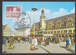 Leipzig Maximumkarte Altes Rathaus  Mit MM-Sonderstempel Und 70 Pf Bauten Großes Format, 1975
