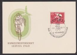 Roue De Coupe Du Monde Radweltmeisterschaften 1960 Maximumkarte Gedenkblatt Leipzig, Cycling World Championships