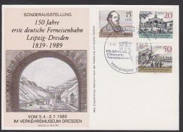 Railroad Eisenbahn 1. Deutsche Ferneisenbahnstrecke Leipzig - Dresden Maximumkarte Gedenkblatt Chemin De Fer