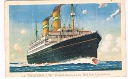 SCH-664   S.S. WESTERLAND ( H.A.L.0 ( Red Star Line Service) - Traghetti
