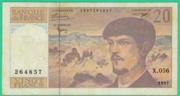 20  Francs - Debussy  -  France - N°X.056 264857 - 1997.  - TTB  - - 20 F 1980-1997 ''Debussy''