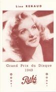 LINE RENAUD GRAND PRIX DU DISQUE 1949 PATHE - Musique & Instruments