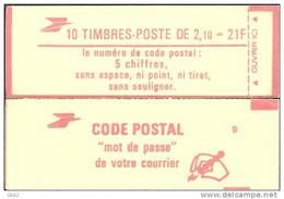 """CARNET 2319-C 2 Liberté De Delacroix """"CODE POSTAL"""" Avec R.E. Fermé Bas Prix Parfait état RARE - Usage Courant"""