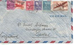 USA AFFRANCHISSEMENT COMPOSE SUR LETTRE DE PEEKSKILL POUR LA SUISSE 1947 - Poststempel