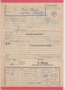 Eilfrachtbrief 1957 G. Oltmer, OSTERSCHEPS über OLDENBURG I.O. > Hotel Bergmann, ST. ANDREASBERG Frachtbrief (108) - Eisenbahnverkehr