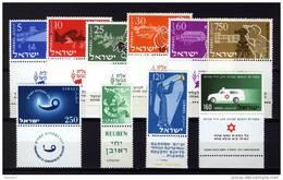 Israel 1955, 10 Stamps **, MNH - Ongebruikt (met Tabs)