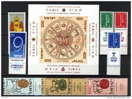 Israel 1957, 8 Stamps & 1 Sheet **, MNH - Ongebruikt (met Tabs)