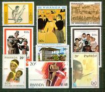 Gymnastique, Barre Fixe, Toulouse Lautrec: La Goulue - RUANDA -  Norman Rockwell, Fermette, Village D'enfants - 1980 - Rwanda