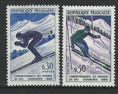 "FR YT 1326 & 1327 "" Championnat Du Monde De Ski "" 1962 Neuf** - France"