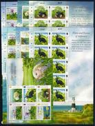 Alderney 2015 Flora & Fauna Rabbit Hedgehog 6 MS + SS MNH