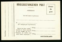A4464) France POW Kriegsgefangenenkarte Nach Deutschland Ungebraucht - Frankreich