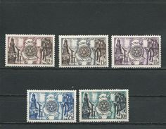 TUNISIE Scott 259-263 Yvert 390-394 (5) ** Cote 6,50$ 1957 - Tunisie (1956-...)