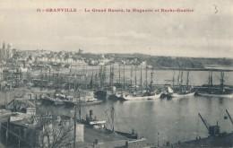 GRANVILLE - 50 - Le Grand Bassin, La Huguette Et Roche Gautier - Granville