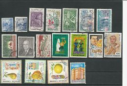 TUNISIE Lot B Timbres Oblitérés (18) O Cote 5,00$ 1956-81 - Tunisie (1956-...)