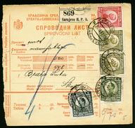 A4465) Jugoslawien Yugoslavia Paketkarte Von Sarajevo 20.12.21 - 1919-1929 Königreich Der Serben, Kroaten & Slowenen