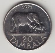 @Y@  Malawi  20 Tambala  1971  Olifant / Elephant   (4556) - Malawi