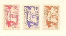 TUNISIE Scott 312-314 Yvert 444-446 (3) * Cote 42,00$ 1957 - Tunisie (1956-...)