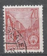 German Democratic Republic 1957. Scott #333 (U) Stalin Boulevard * - Used Stamps