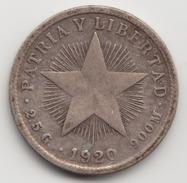 @Y@   Cuba  10 Centimos  1920   (4553) - Cuba