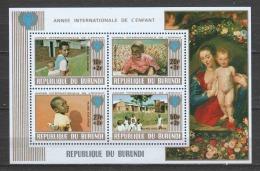 Burundi 1979 Mi Block 109A MNH UNICEF