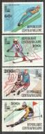 Central African Republic 1979 Mi 632-635 MNH WINTER OLYMPICS