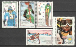 Congo 1979 Mi 714-718 MNH WINTER OLYMPICS