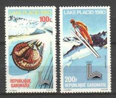 Gabon 1980 Mi 720-721 MNH WINTER OLYMPICS
