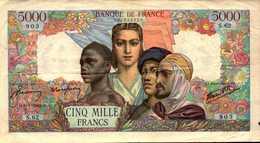 FRANCE 5000 FRANCS EMPIRE FRANCAIS Du 9-7-1942   Pick 103a  F 47/3 - 1871-1952 Anciens Francs Circulés Au XXème